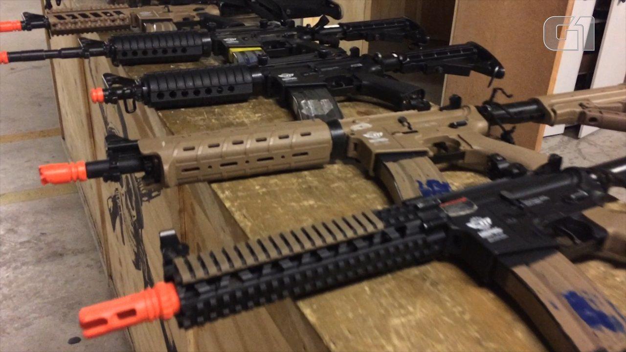Após 2 anos em queda, número de apreensões de armas de brinquedo cresce em SP