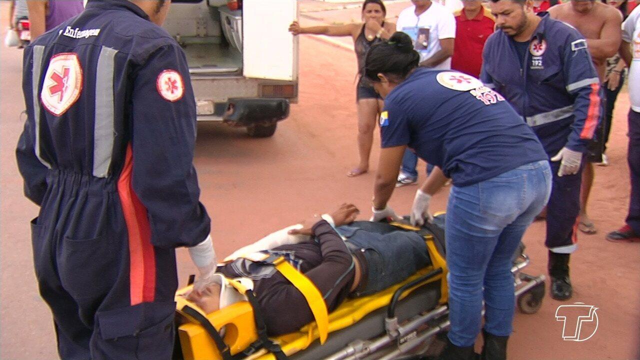 Duas pessoas ficam feridas em acidente com duas motos na Av. Anísio Chaves em Santarém