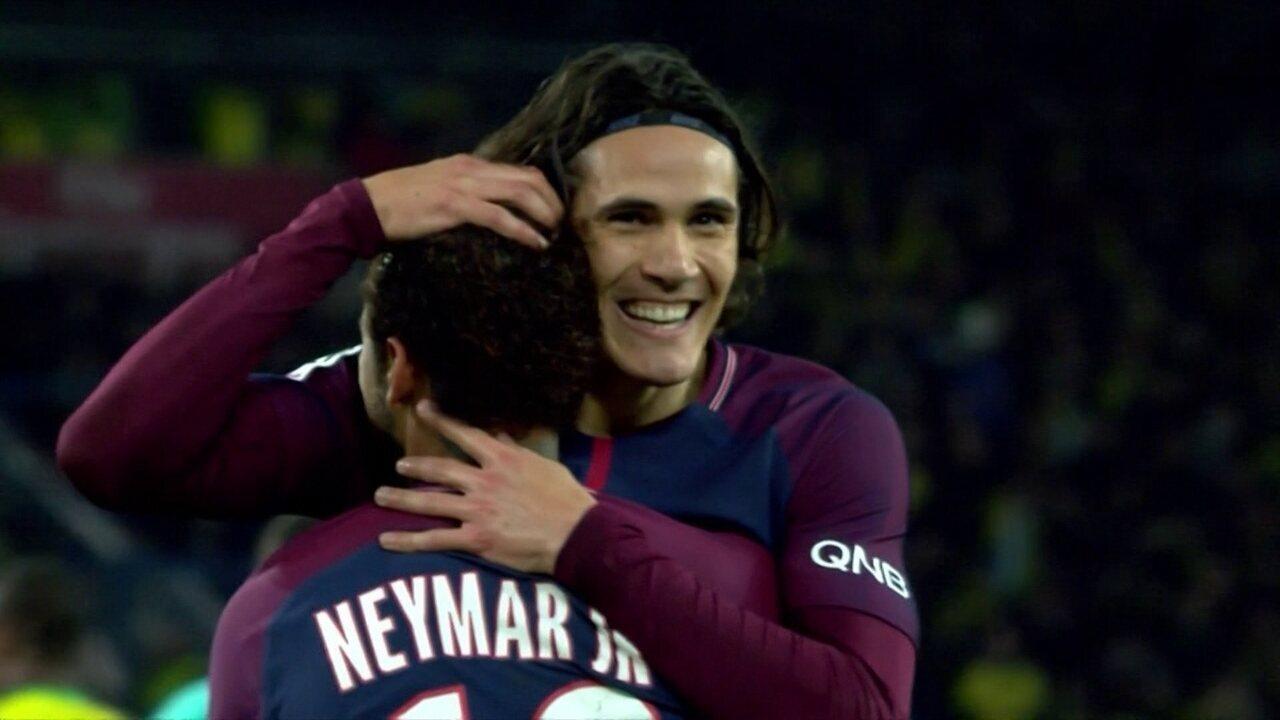 Os gols de PSG 4 x 1 Nantes pelo Campeonato Francês