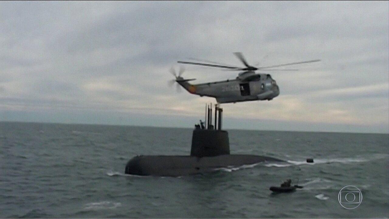 Sinais de satélite não ajudam a localizar submarino argentino desaparecido