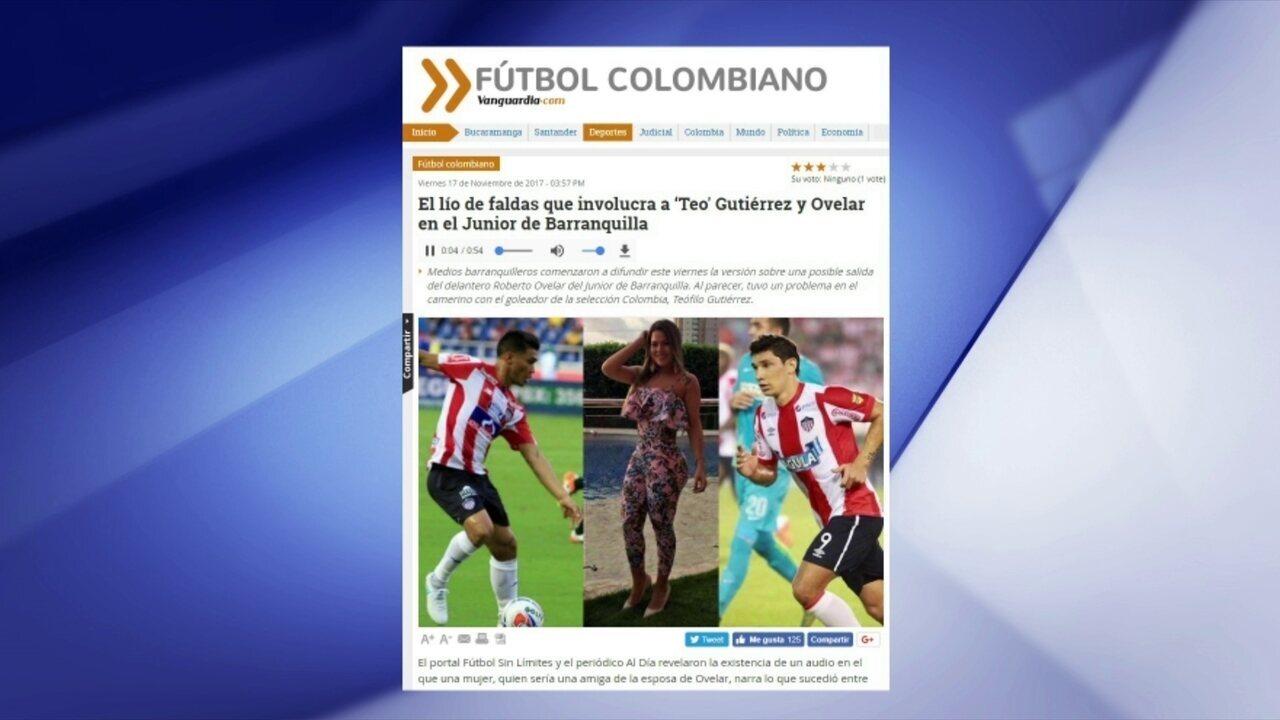 Jogadores do Junior Barranquila se envolvem em polêmica