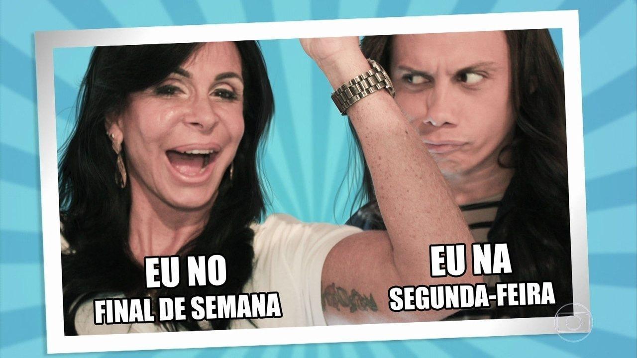 Marcelo Adnet, Camila Pitanga, André Marques e Silvero Pereira inventam memes com Gretchen
