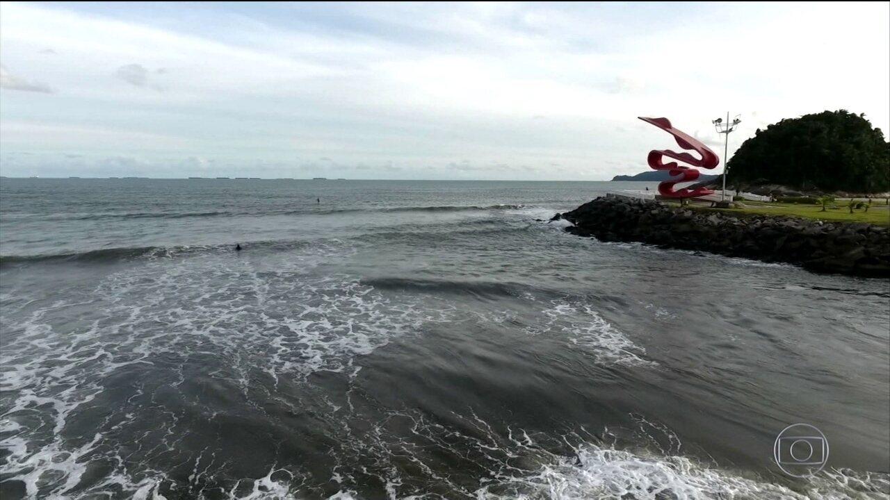 Resíduos de cocaína são detectados nas águas da Baía de Santos