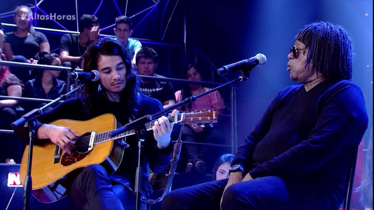 Milton Nascimento e Tiago Iorc tocam 'Canção da América'