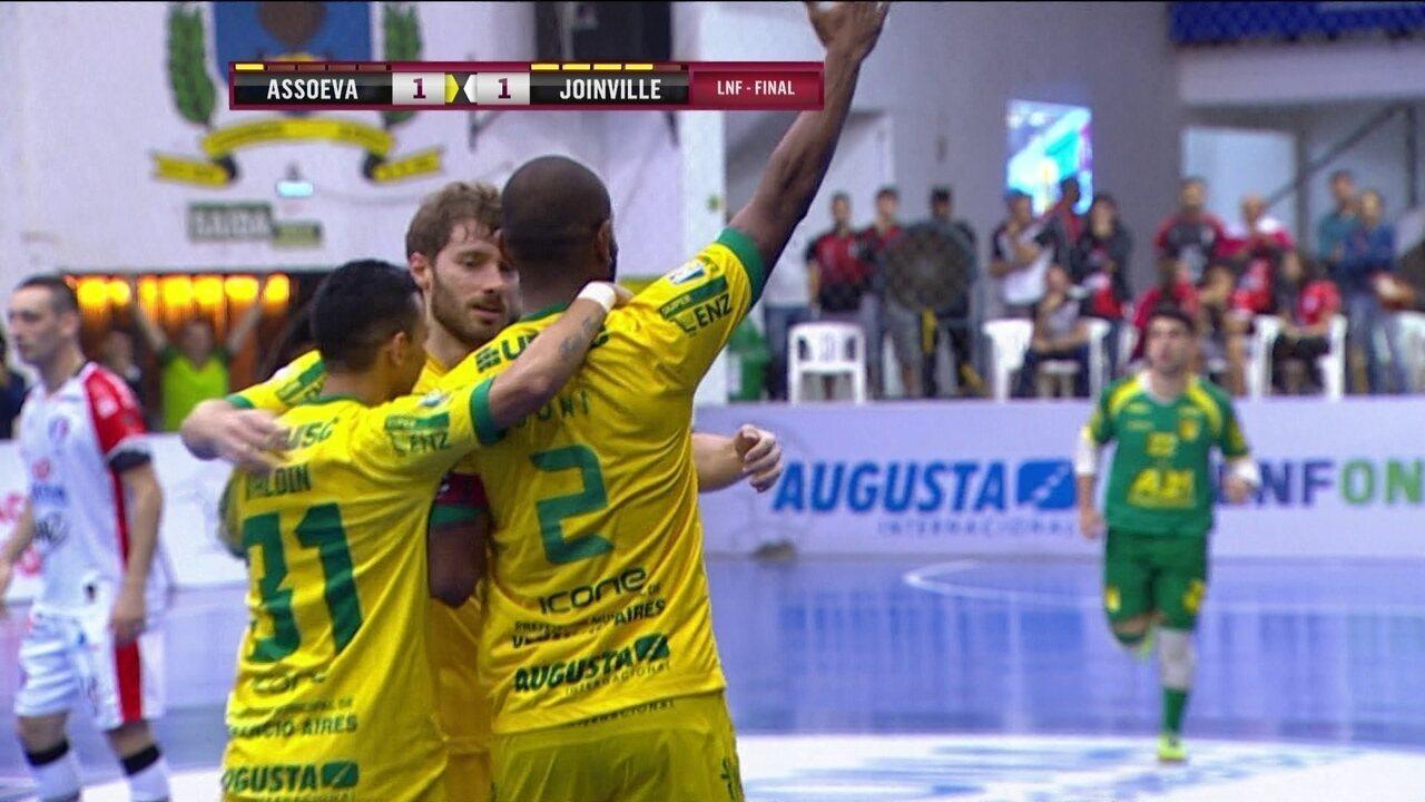 Os gols de Assoeva 1 x 1 Joinville pelo 1º jogo da final da Liga Nacional a61731b2c18e7