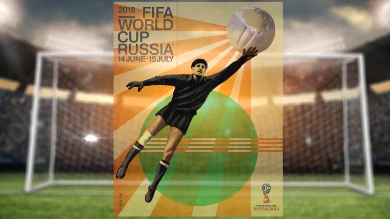 Com homenagem a Yashin, Fifa lança pôster oficial da Copa do Mundo de 2018