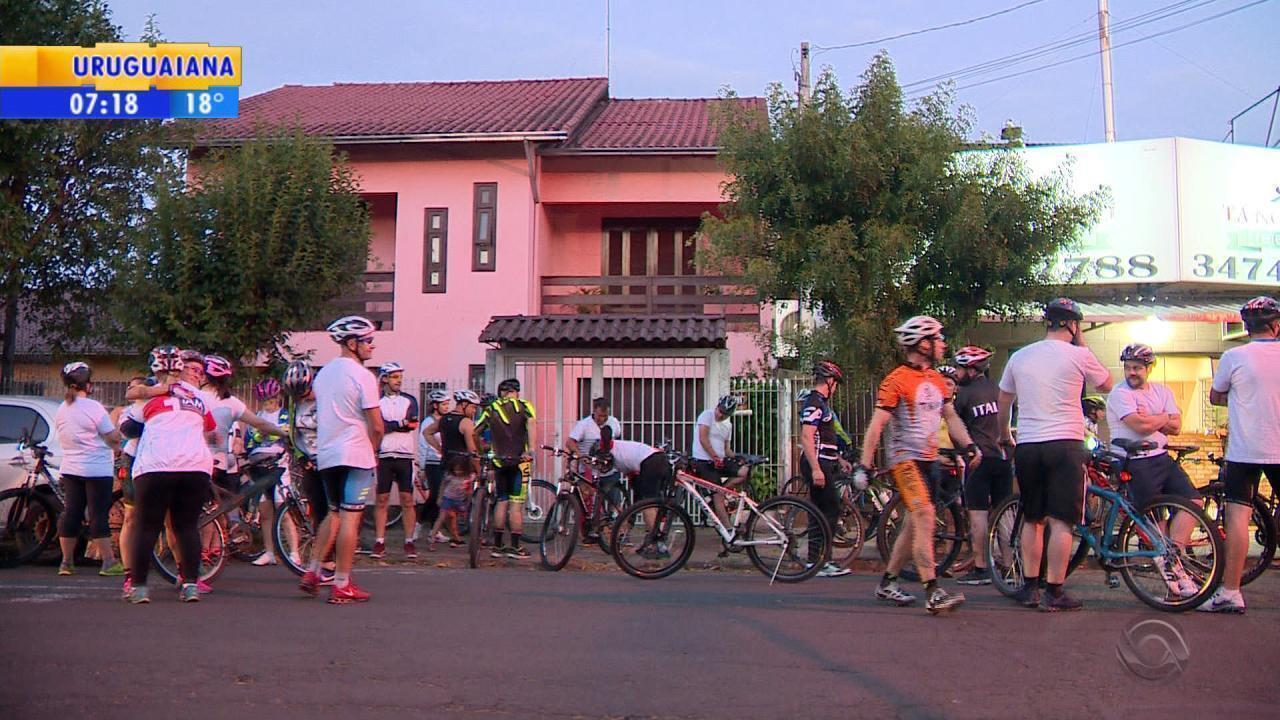 Ciclista posta