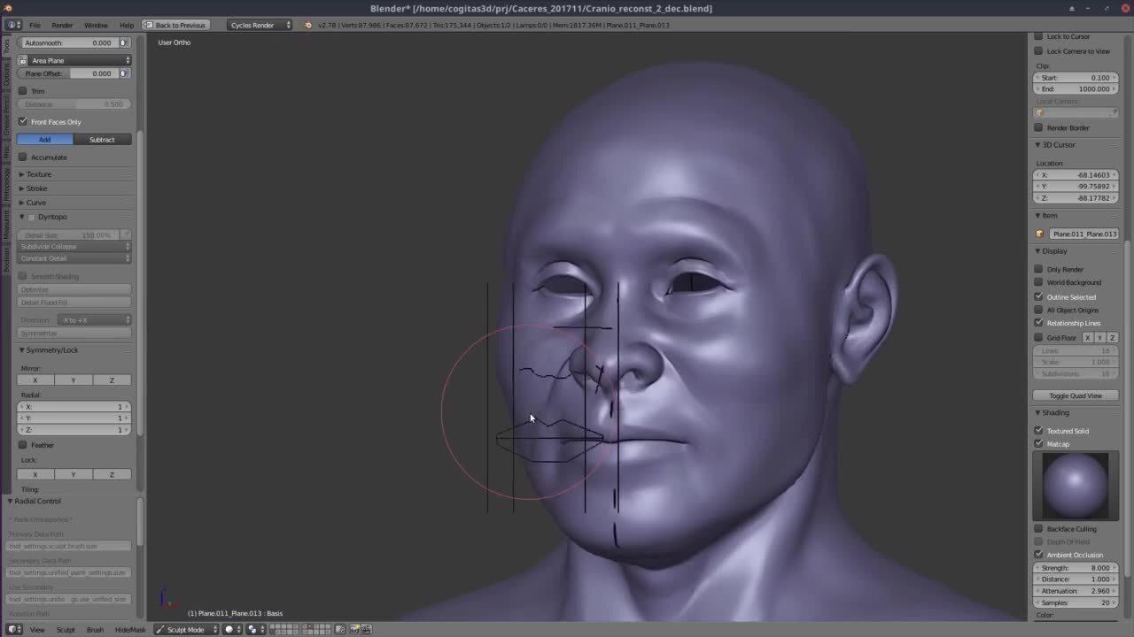 Designer precisou reconstruir a mandíbula do índio a partir de proporções e cálculos