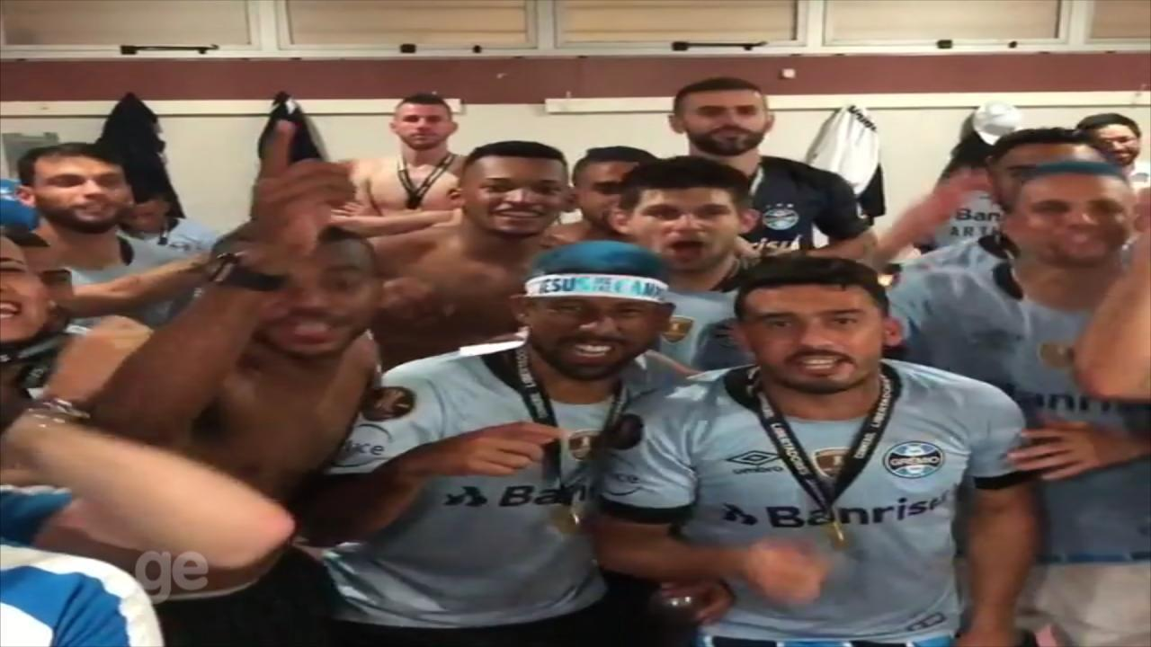 Jogadores do Grêmio postam vídeo provocando Internacional na comemoração da Libertadores