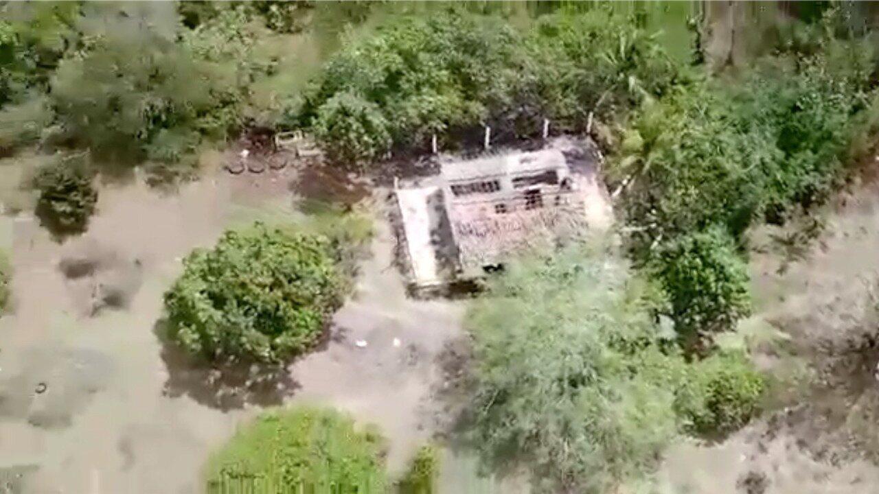 Vídeo do drone Predador 01, da PM, mostra buscas feitas em região de mata em Parnamirim