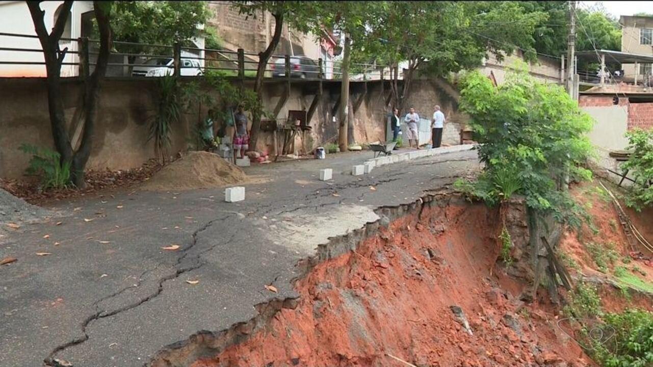 Chuva causa estragos em Cachoeiro de Itapemirim e em outras cidades do Sul do ES