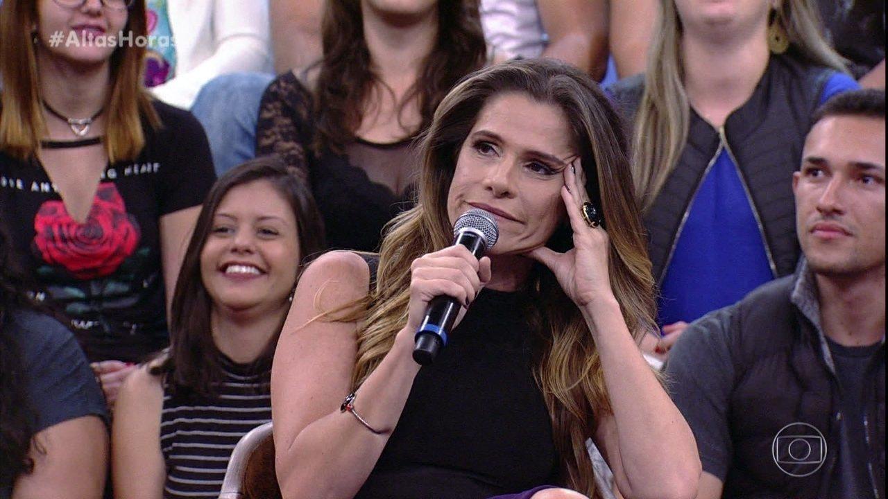 Ingrid Guimarães fala de gravação com Fábio Jr