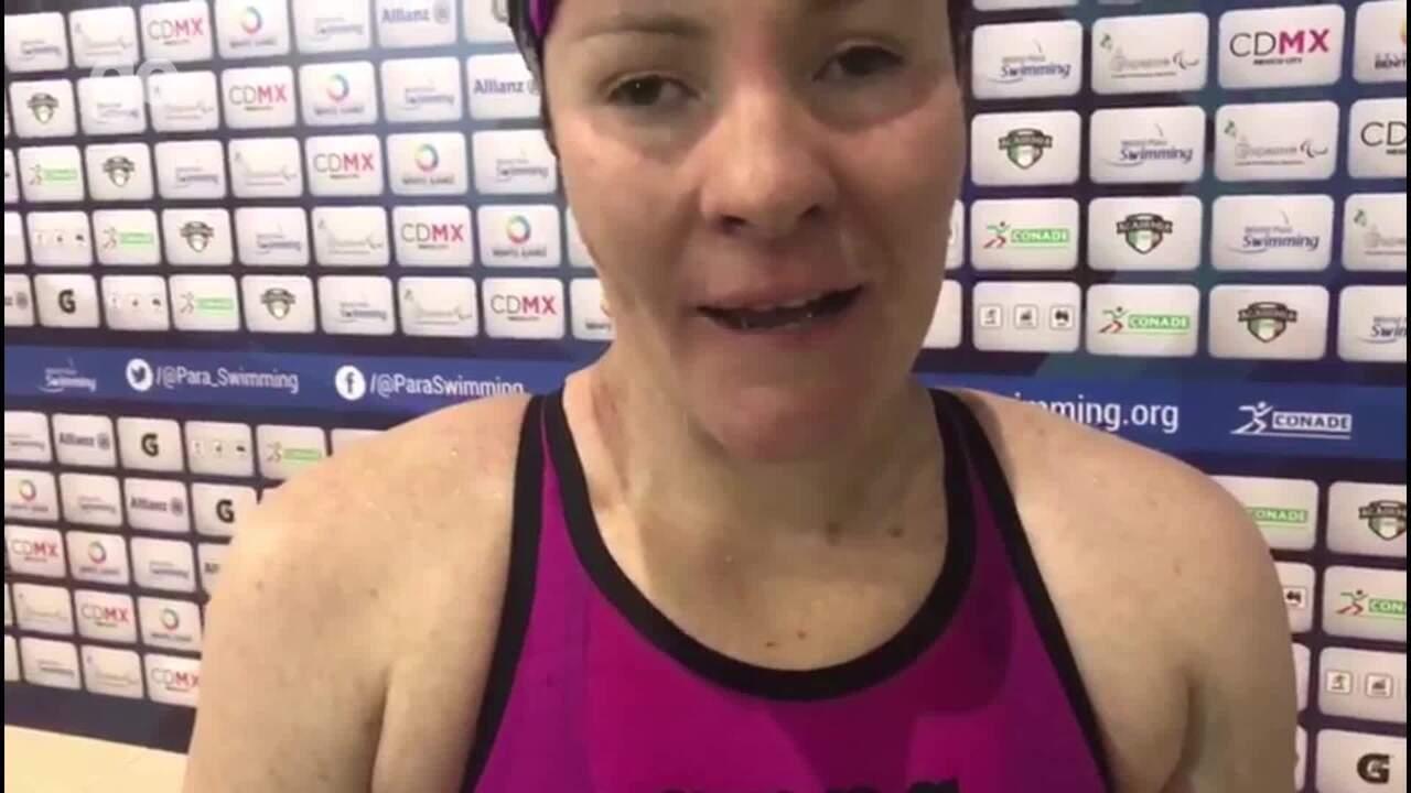 Raquel Viel conquista o bronze nos 100m costas do Mundial do México