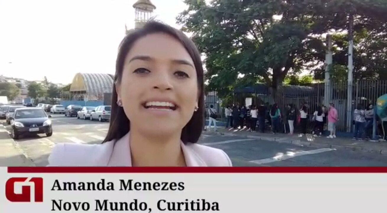 Pais dormem na fila para conseguir fazer matrícula em escola municipal de Curitiba