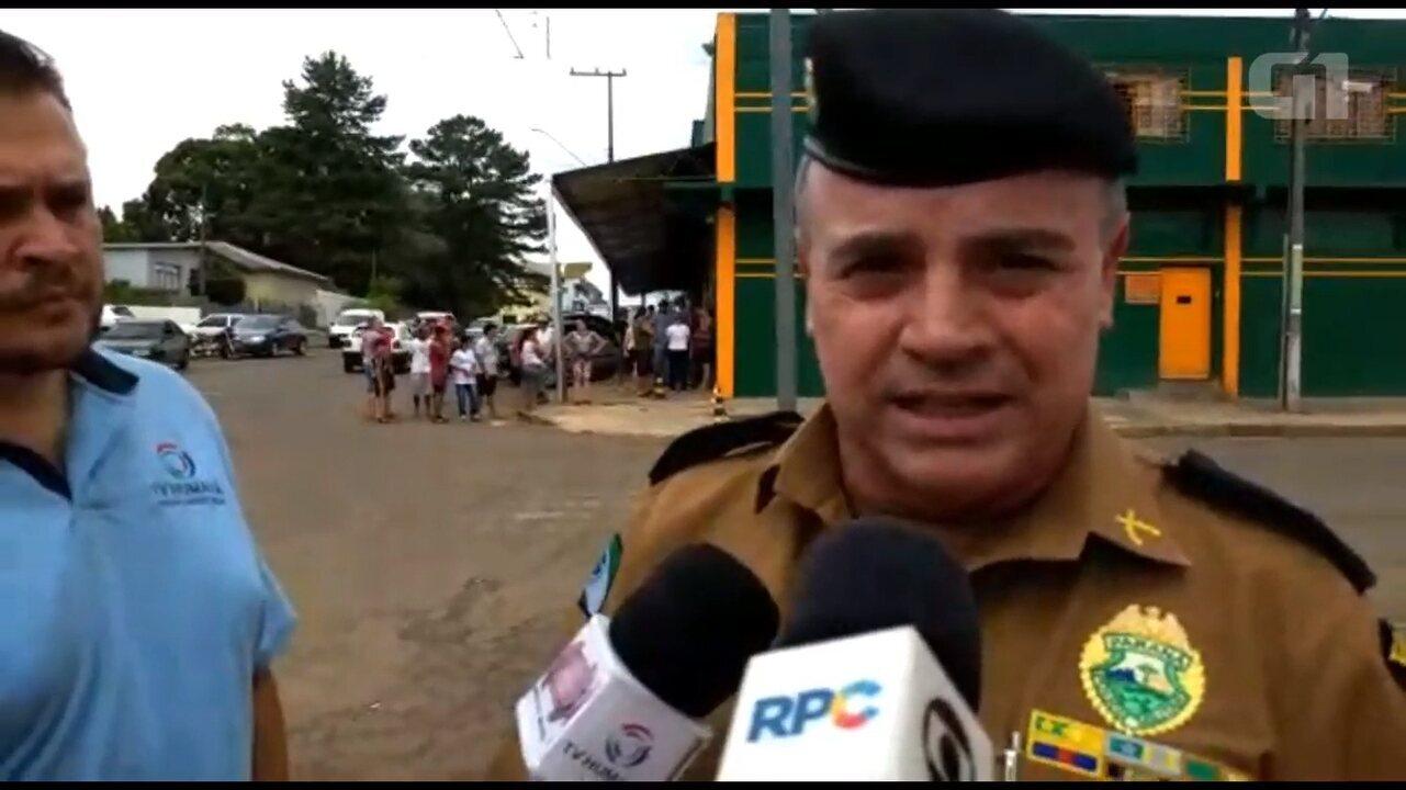 Polícia fala sobre as negociações com o suspeito