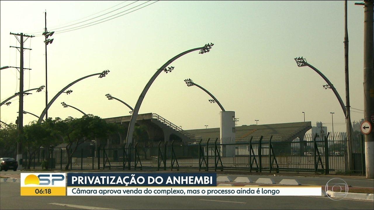 Câmara de SP aprova projeto de privatização do Anhembi