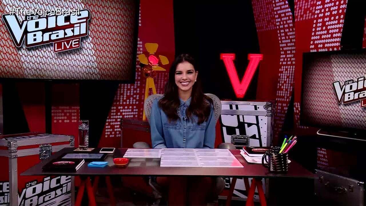 Mariana Rios comanda 'The Voice Brasil Live'