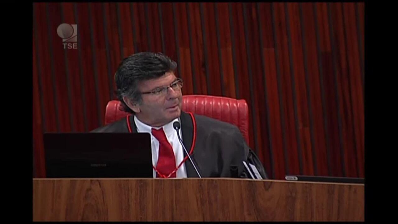 Ministro Luiz Fux faz breve discurso ao ser eleito para presidir o TSE