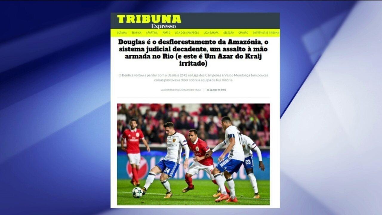 Colunista português compara brasileiro Douglas com