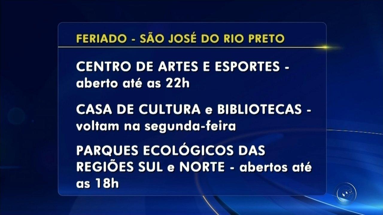 Confira quais serviços funcionam no feriado do dia 8 de dezembro em Rio Preto
