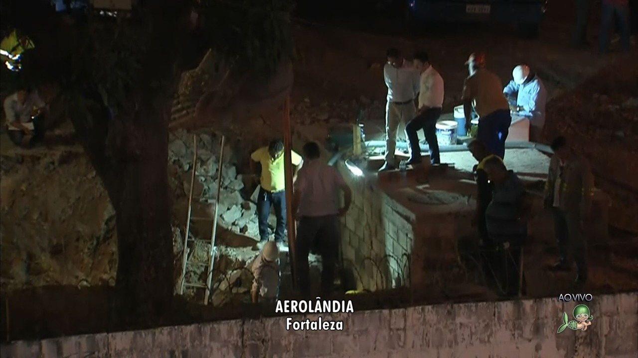 Rompimento em adutora deixa vários bairros de Fortaleza sem água