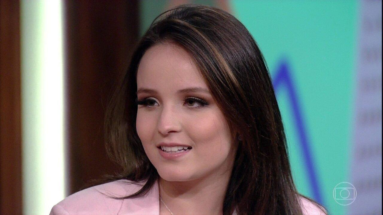 """Larissa Manoela fala sobre os """"amigos imaginários"""" da infância"""