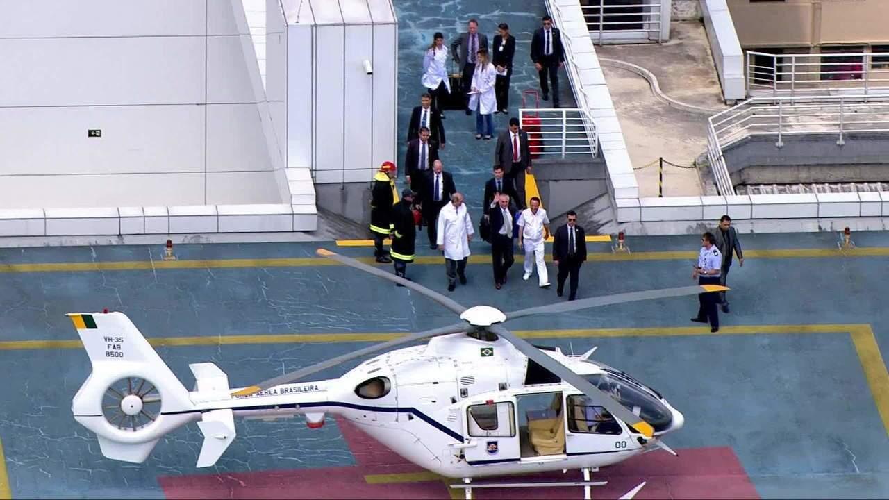 O presidente Michel Temer recebe alta e deixa o Hospital Sírio Libanês