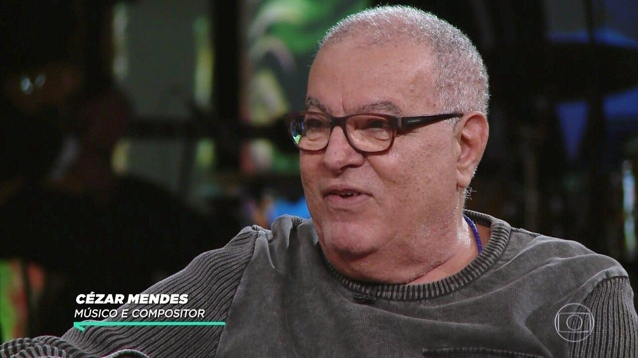 Cézar Mendes fala sobre músicas atuais em novela e como nasceu amizade com atriz
