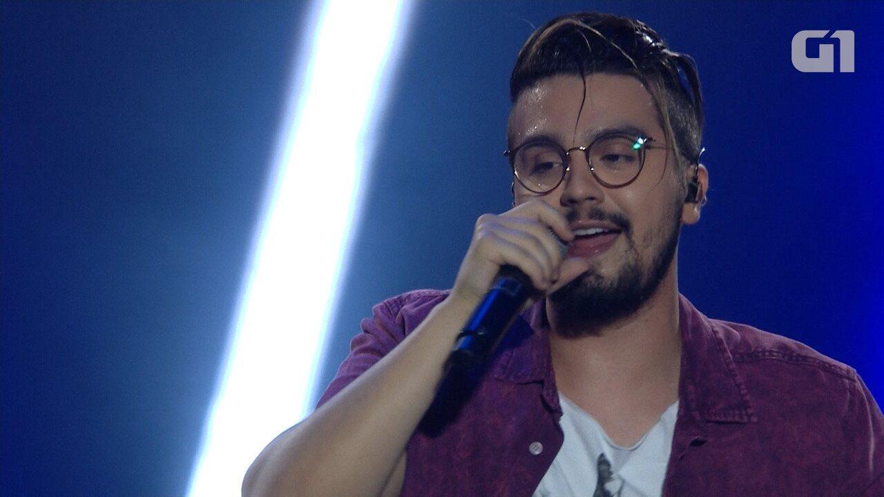 Festival de Verão: Luan Santana canta 'Acordando o Prédio' na Arena Fonte Nova