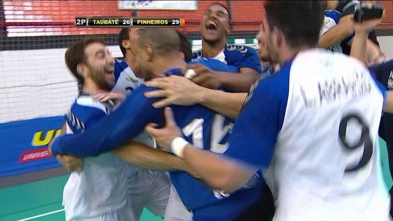 Melhores momentos de Taubaté 26 x 29 Pinheiros na final da Liga Nacional de handebol