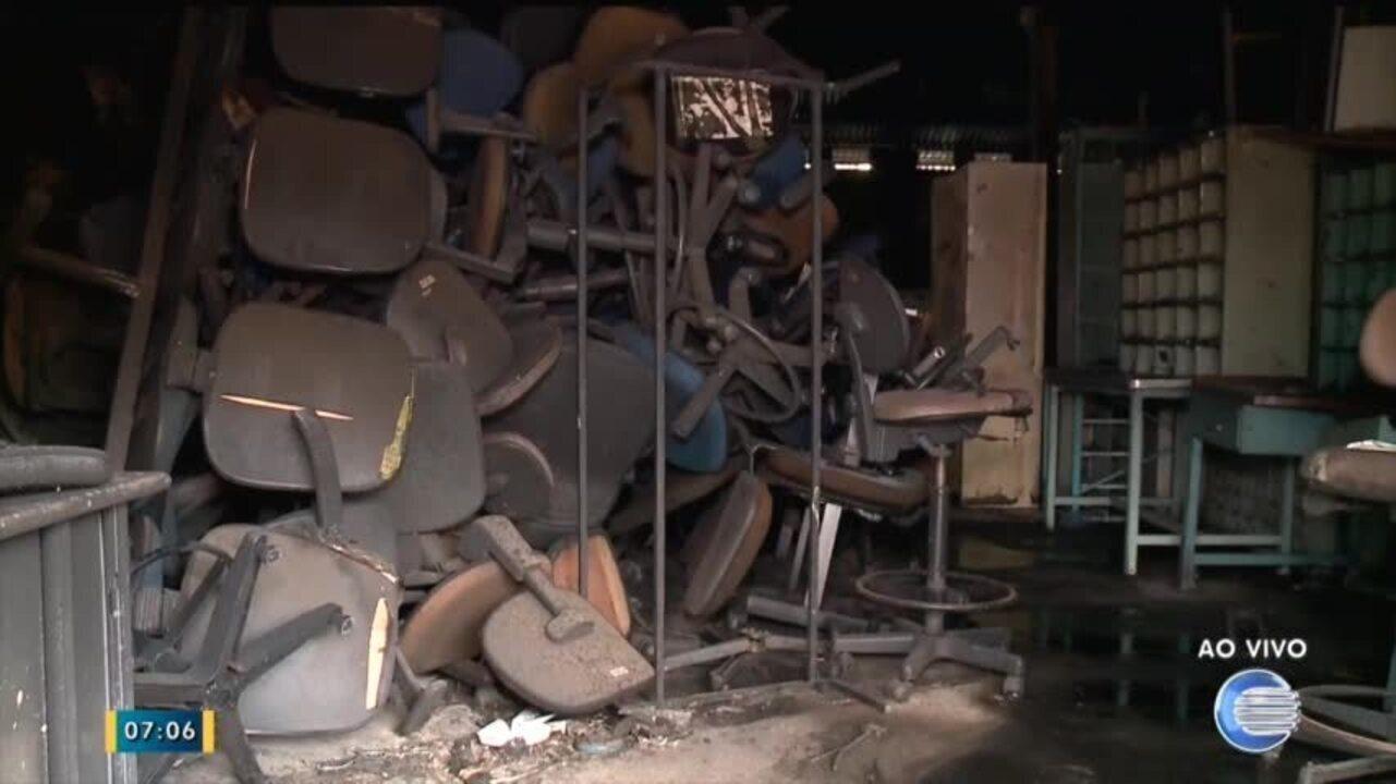 Incêndio atinge depósito dos Correios na zona Sul de Teresina