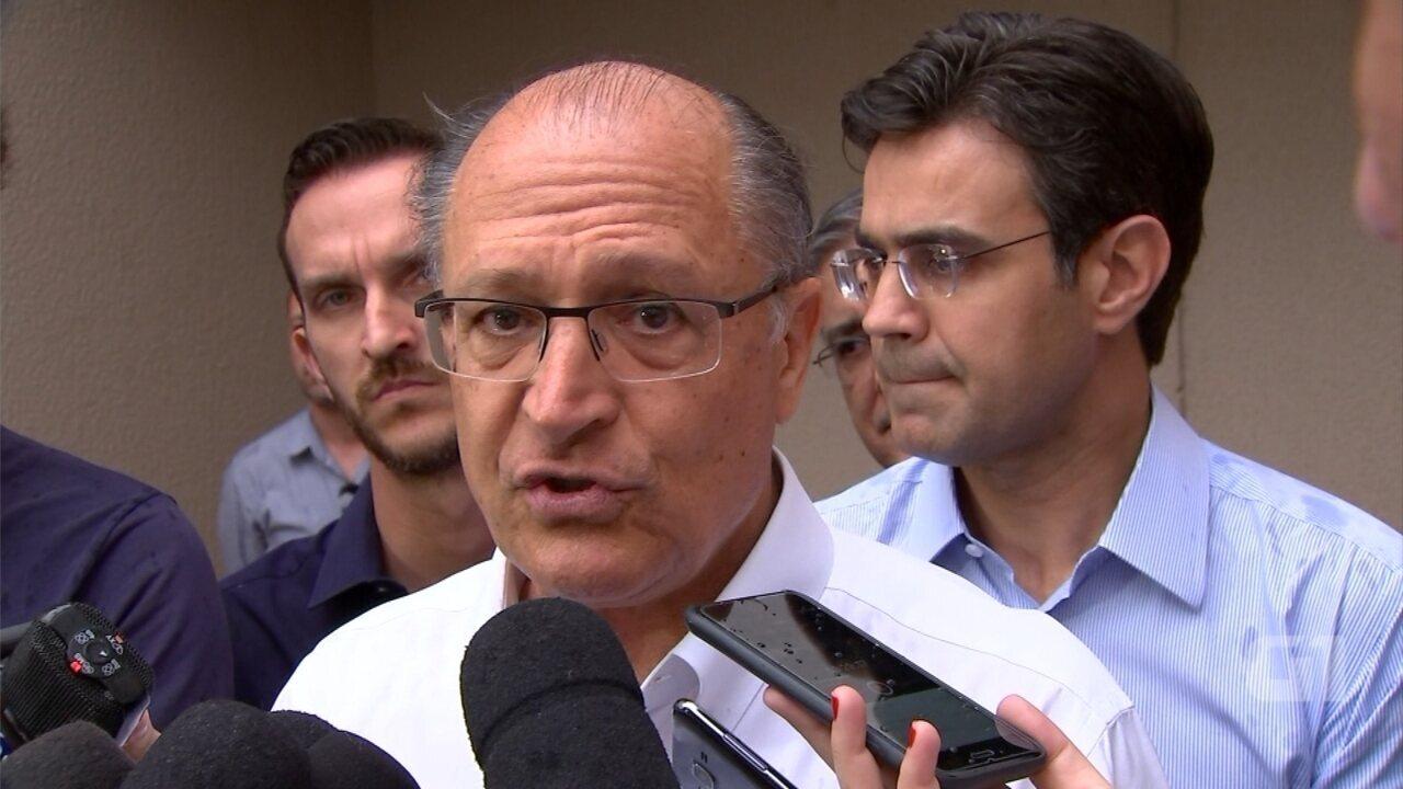 Geraldo Alckmin fala sobre cartel do sistema viário durante visita a Sorocaba