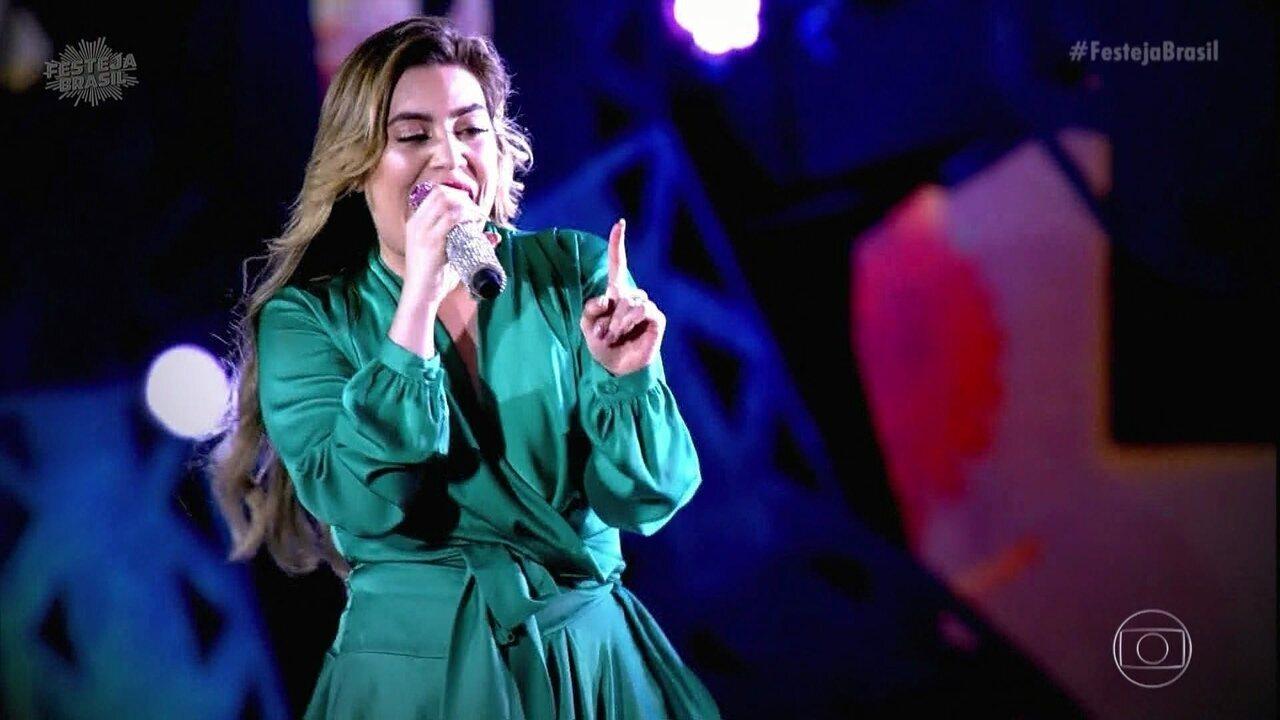 Naiara Azevedo encerra Festeja cantando 'Avisa Que Eu Cheguei'