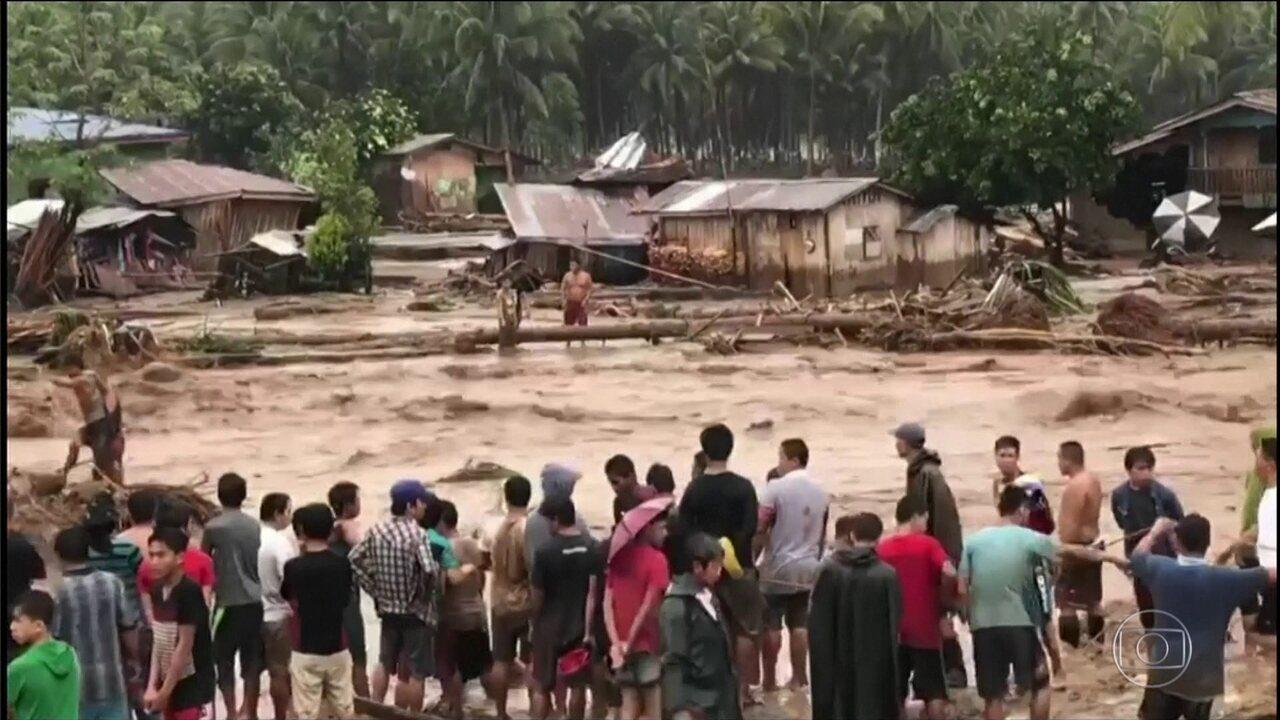 Tempestade no Sul das Filipinas deixa 180 pessoas mortas