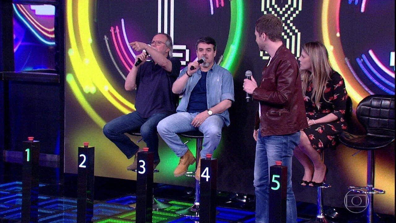 Tato e Cássio Gabus Mendes enfrentaram Tiago Leifert e Daiana Garbin