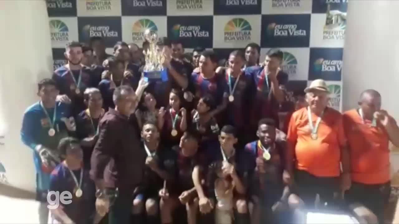 Barcelona comemora o tetracampeonato na Copa Boa Vista de Futebol Amador