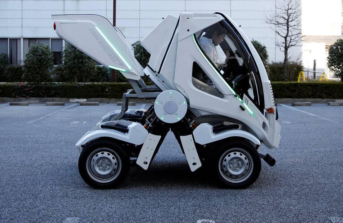 Empresa japonesa se inspira em robôs para criar carro dobrável