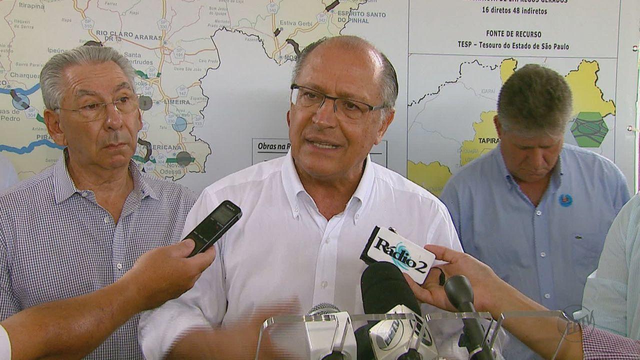 Alckmin assina projetos de melhorias em rodovias e entrega obra de vicinal na região