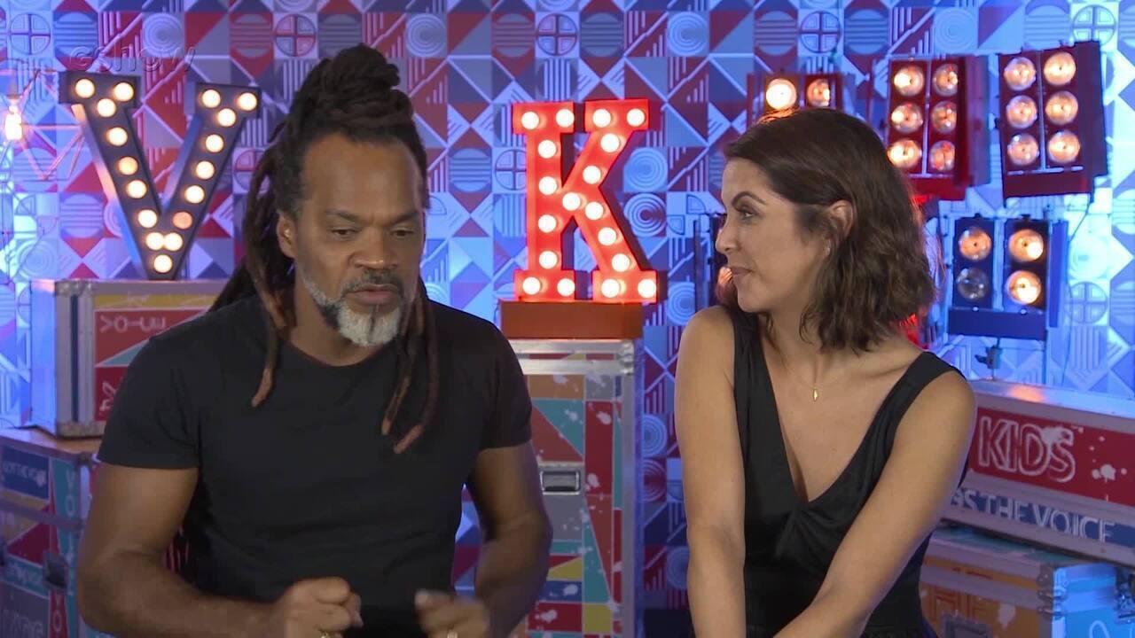 Carlinhos Brown conversa com Thalita Rebouças sobre a expectativas para o The Voice Kids