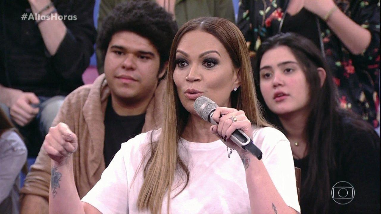 Solange Almeida diz ser chamada de 'ninfomaníaca' pelas amigas