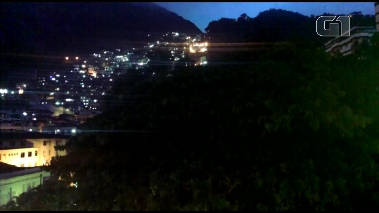 Sirene alerta para chuva forte no Morro Dona Marta