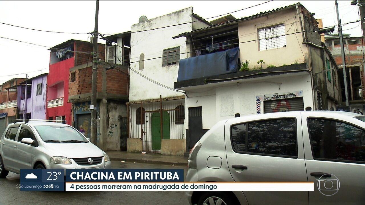 Quatro pessoas morrem em chacina em Pirituba