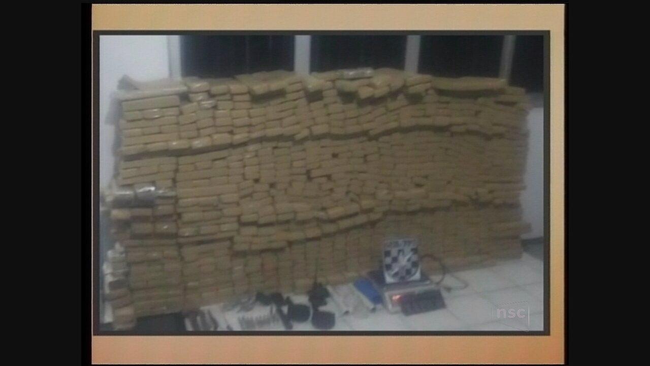 Polícia apreende 638 quilos de maconha em Imbituba, Sul de SC