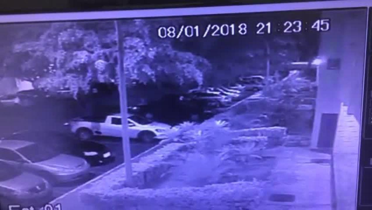 Câmera de segurança de prédio em Brasília grava momento em que homem atira contra mulher