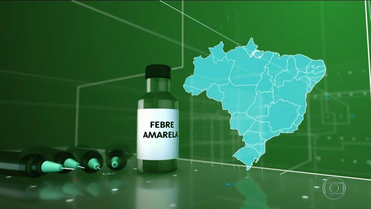 Veja como será a vacinação contra febre amarela em SP, RJ e BA