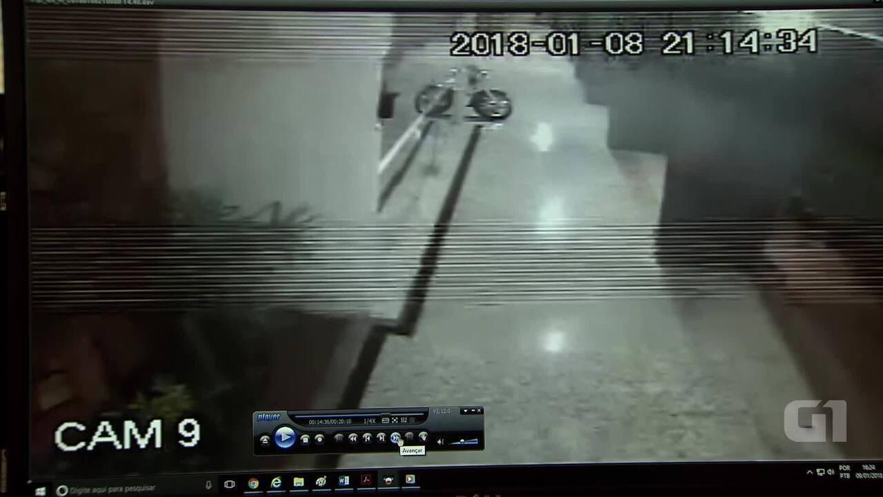 Câmera de segurança de prédio na Asa Sul mostra criminoso que atirou em mulher