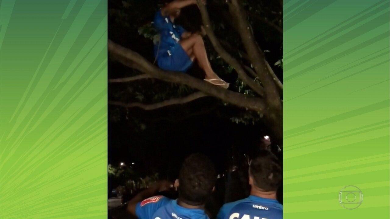 Jogadores do Cruzeiro tiram sarro com Judivan após competição de videogame