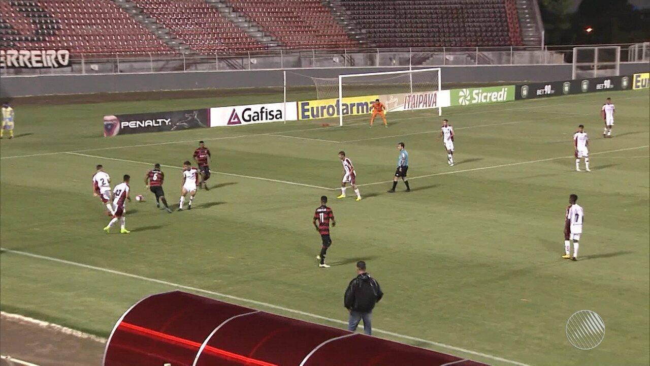 Vitória vence Ituano por 4x1 e garante vaga na 3ª fase da Copinha