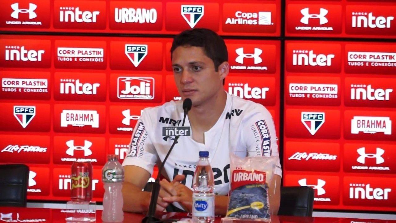 Veja a entrevista de apresentação do zagueiro Anderson Martins, do São Paulo