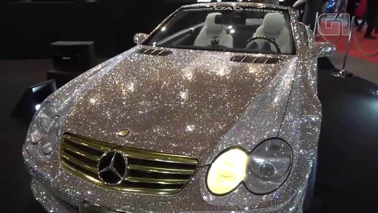 Grife cria Mercedes-Benz conversível coberta de cristais Swarovski